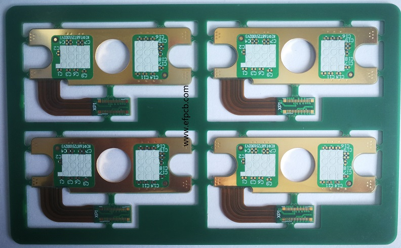 Rigid flex PCB, RF PCB, hard gold PCB, via on PAD PCB